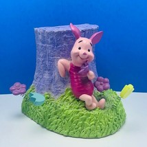 Piglet Walt Disney Bookend resin statue Winnie Pooh book end vtg tree fl... - $62.66