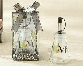 Glass LOVE Oil Bottle in Signature Tuscan Box Set of 12 Wedding Favors - $48.46