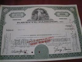 Rayette Faberge stock certificate 12x8 dated 1969 Minneapolis Registrar ... - $9.02