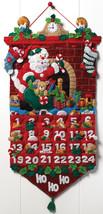 Bucilla Advent Calendar Felt Applique Kit-Must Be Santa - $39.74