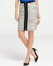 Ann Taylor Women's Skirt Metallic Tweed Zipper Front Fully Lined Size 12... - $33.46