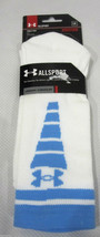 NEW Mens Under Armour White Lt Blue Allsport Socks Sz L 9-12.5 - $9.99