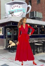 Women's Open Shoulder Wrap Dress Matte Jersey Many Colors XXS-XL - $150.00