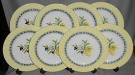 1999 Set (8) Royal Doulton CARMINA PATTERN Dinner Plates LEMON CENTER DE... - $197.99