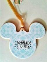 Disney World Coronado Springs Ceramic Mickey Ears Ornament, NEW - $29.95