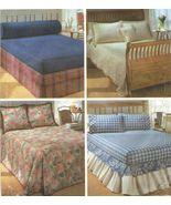 Bedroom Bedspread Coverlet Comforter Bedcap Sham Pillows Dust Ruffle Sew... - $12.99