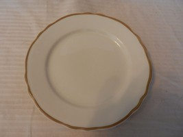 Homer Laughlin Restaurant Ware Best China Dinner Plate White with Gold - $23.75