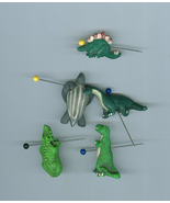5 Peruvian Porcelain Prehistoric Animal Beads - $9.99