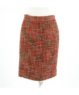 Cool brown orange textured J. CREW No. 2 Pencil pencil skirt 2 - $39.99