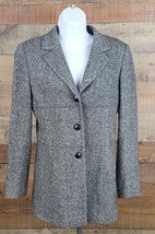 Express Stretch Coat Womens Size 5/6 Multi Color Wool Blend - $27.71
