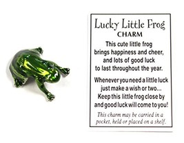 Ganz Lucky Little Frog Charm with Story Card! - $2.97