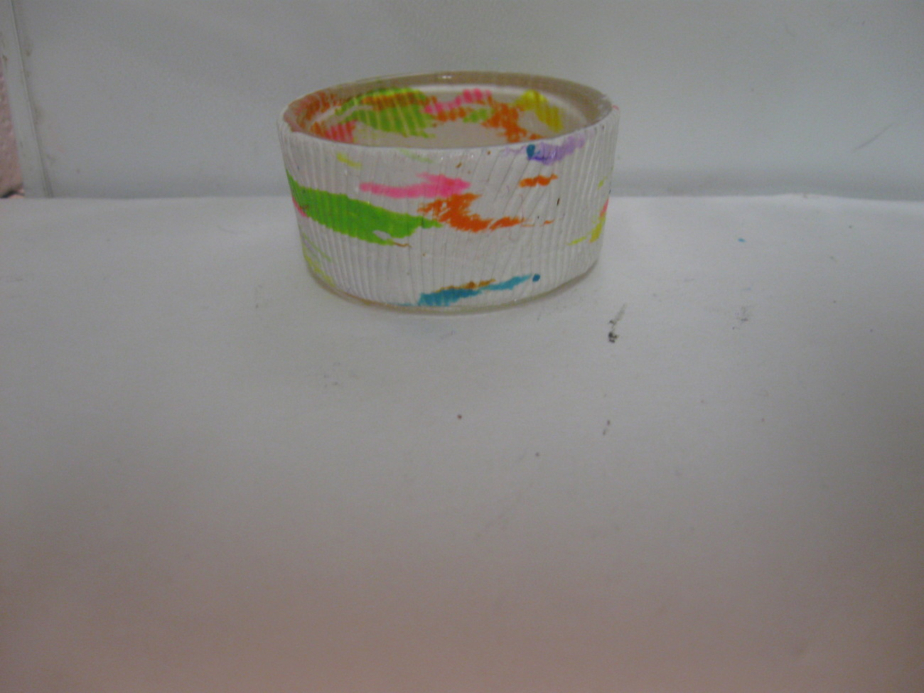 Confetti Polymer Clay Tealite Candle Holder