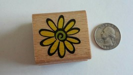 StampCraft Wood Mount Rubber Stamp - 440D99 Flower Daisy - $6.25