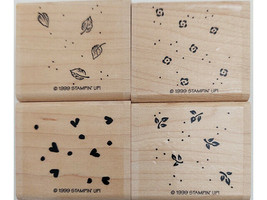 Stampin' Up! Petite Patterns Rubber Mounted on Wood Stamp Set