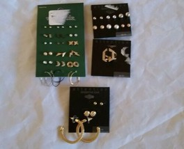 Fashion Jewelry Silver Gold Tones Earrings Ring Set Pack Holiday Gift fo... - $35.06