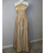 Golden Metallic Formal Gown With Beading Size S... - $92.00