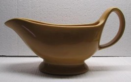 POTTERY BARN Sausalito AMBER Yellow Gold Gravy Boat Bowl - EXCELLENT CON... - $49.99