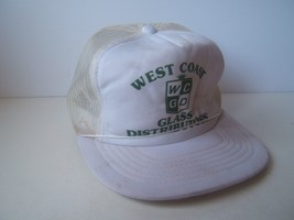 West Coast Glass Distribution Hat Beat Up White Snapback Trucker Cap - $15.00