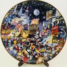 Franklin Mint Plate Bill Bell Ring In The Mew Millennium 2000 Cats Limit... - $19.79