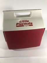 Little Playmate Cooler By Igloo Lunch Cooler Red & White Great Shape CLEANED - $13.09