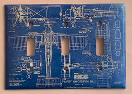 Fairey Swordfish MK-2 Bomber Plane Switch Outlet wall Cover Plate Home Decor image 5