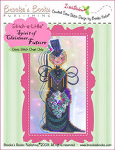Stitch-A-Little:Spirit of Christmas Future Chart only cross stitch Brooke's Book - $5.40