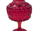 5690a priscilla ruby red glass covered candy jar dish made for lg wright by fenton thumb155 crop