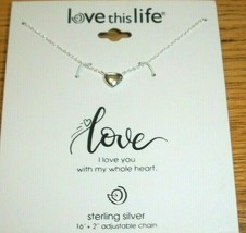 I Love You Heart Necklace Wife Girlfriend Sterling Silver Xmas Gift Of L... - $29.69