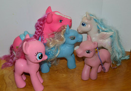 MY LITTLE PONY & KO FIGURE LOT G3 G4 PINKIE PIE PEGASUS 2006 LARGE SIZE MLP - $23.89
