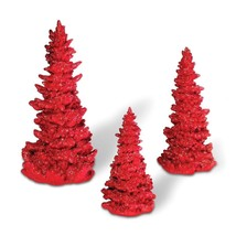 Department 56 Accessories for Villages Red Glitter Tree Set, 10 inch - $45.94