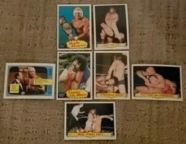 1985 Topps WWF Wrestling All Stars 7 Card Lot w/ #16 Hulk Hogan - Pack F... - $9.89