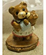 Donna Petersen Wee Forest Folk Tiny Teddies Momma Bear with Baby Boy Cub - $15.00