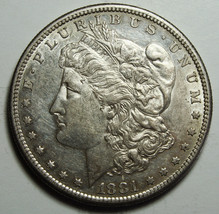 1881S MORGAN SILVER DOLLAR COIN Lot# D 14