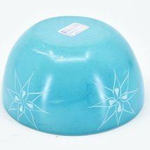 Tabaka Chigware Handmade Soapstone Blue Flower & Star Design Trinket Bowl Kenya image 4