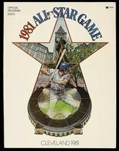 1981 MLB All Star Game Program Cleveland Gary Carter MVP - $23.16