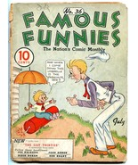 Famous Funnies #36 1937- Buck Rogers- Early Comic- Alley Oop LOW GRADE - $63.05