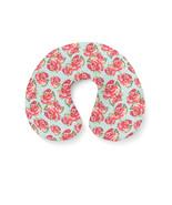 English Roses Blue Polka Dots Travel Neck Pillow - $29.45 CAD+