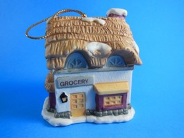 NIB Dickens Village Grocery Bell Lite Mini Tree Light cover Bisque Porcelain - $3.46