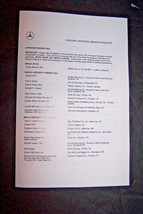 1989 Mercedes factory approved service products owners manual supplement... - $24.74