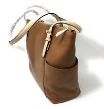 Michael Kors Jet Set East West Top Zip Brown Leather Tote - $248 MSRP! - $99.95