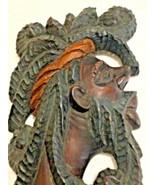 Vintage Reggae Hand Carved Rasta Wood Mask  by Floyd Lewis - $64.99