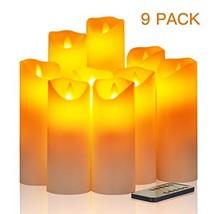 "Flameless Candles, Φ 2.2"" x H 4''/5""/6""/7''/8''/9''Set of 9 Battery Oper... - $24.24"