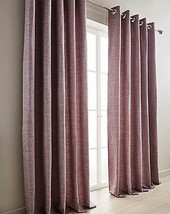 WOVEN PURPLE FULLY LINED RING TOP CURTAINS - *8 SIZES* - $40.60+