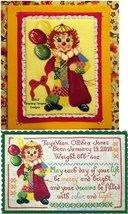 Calico Clown Birth Sampler  Bonus chart cross stitch chart Tempting Tangles - $16.20