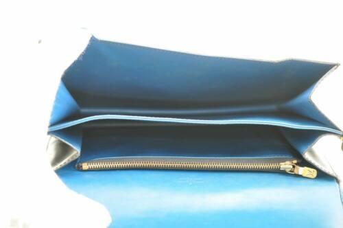 LOUIS VUITTON Epi Free Run Shoulder Bag Black Blue M52415 LV Auth 9735 image 10