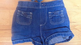 Girls Denim Faded Glory Shorts Size 4T Elastic Back Front Pockets With buttons - $9.49