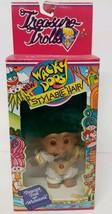 Treasure Troll Wishstone 1992 Wacky Doos Green Hair Gold Elvis Jump Suit... - $26.72