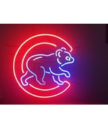 """New Chicago Cubs Logo Neon Sign real glass tube 17""""X14"""" - $95.00"""