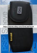 PSP Case for PLAYSTATION PORTIBLE Black Soft Skin Sleeve HOOK+LOOP STRAP... - $6.91