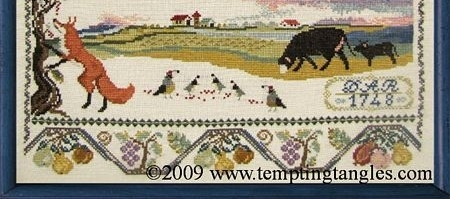 Autumn Nodding cross stitch chart Tempting Tangles
